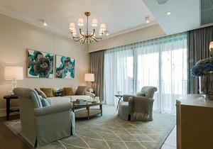简欧风格两居室室内客厅装修效果图赏析