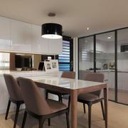 现代简约风格两居室餐厅装修效果图赏析