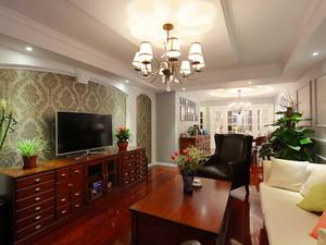 156平米美式风格大户型精装室内装修效果图案例