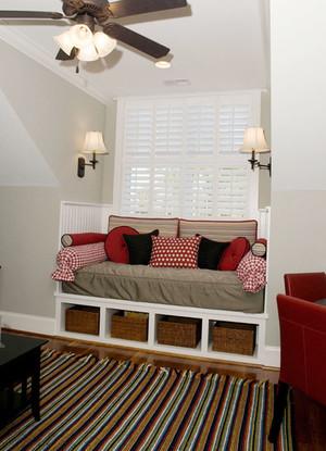 美式风格精致别墅飘窗设计装修效果图