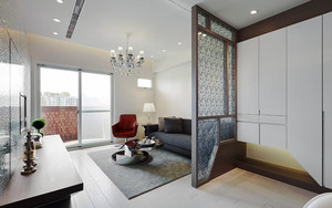 76平米现代简约风格两室两厅室内装修效果图