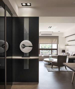 后现代风格两居室玄关隔断设计装修效果图赏析