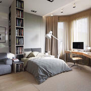 30平米宜家风格简约卧室装修效果图赏析
