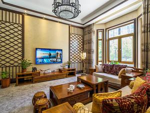 300平米中式风格别墅室内装修效果图案例