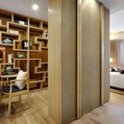 中式风格简约大户型室内书房装修效果图赏析