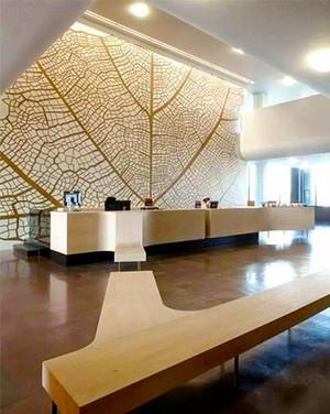 现代风格公司办公室前台设计装修效果图