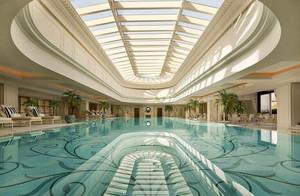 简欧风格超豪华五星级酒店游泳池装修效果图