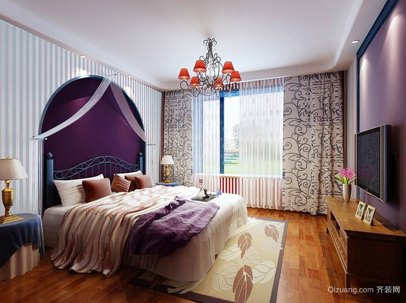 地中海混搭风格三室两厅室内装修效果图赏析