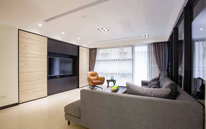 120平米都市简约风格室内装修效果图