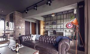 80平米后现代工业风格室内装修效果图案例