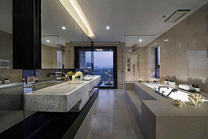 121平米后现代极简主义风格复式楼装修效果图案例
