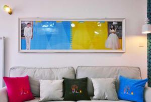80平米时尚色彩混搭风格室内装修效果图鉴赏