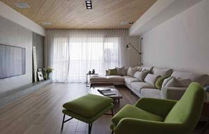 73平米简约风格简装两室两厅室内装修效果图