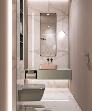8平米现代简约风格卫生间装修效果图