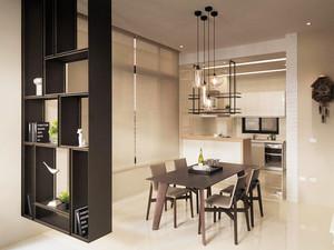 现代风格小户型室内创意餐厅吊灯装修效果图