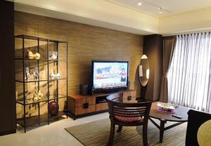 100平米简约新中式风格室内装修效果图案例