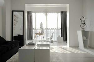 85平米现代简约风格纯白公寓装修效果图赏析