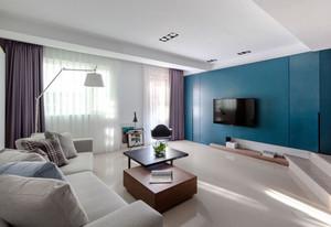 现代风格大户型室内客厅电视背景墙装修效果图赏析
