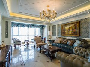 156平米古典欧式风格三室两厅室内装修效果图赏析