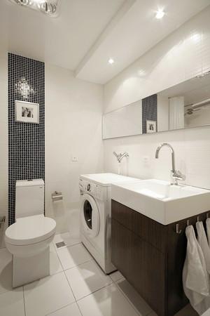 96平米现代简约风格三室两厅室内装修效果图赏析