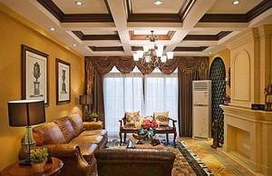 240平米美式风格精致别墅室内装修效果图案例