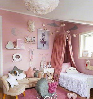 欧式风格粉色温馨儿童房装修效果图赏析