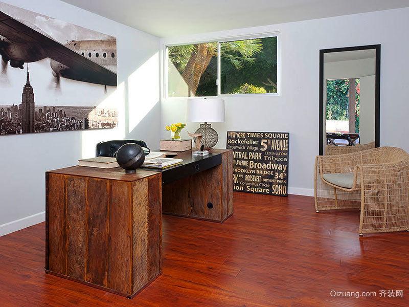 12平米乡村风格书房设计装修效果图赏析