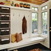 美式风格大户型简约玄关鞋柜设计装修效果图个赏析
