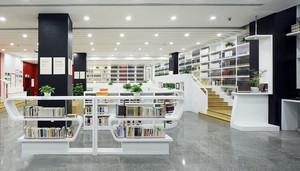 130平米现代简约风格书店装修效果图赏析
