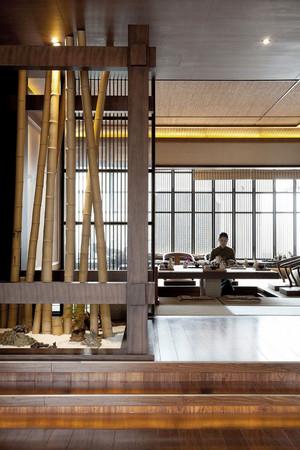 60平米日式风格餐厅设计装修效果图