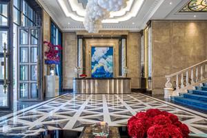 300平米欧式风格酒店前台设计装修效果图