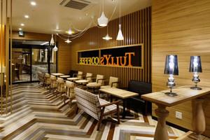 105平米美式乡村风格精致咖啡厅装修效果图案例
