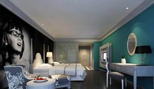 56平米后现代风格宾馆客房装修效果图赏析