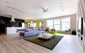 76平米北欧风格简约两室一厅装修效果图案例