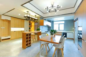 现代风格原木风厨房餐厅装修效果图赏析