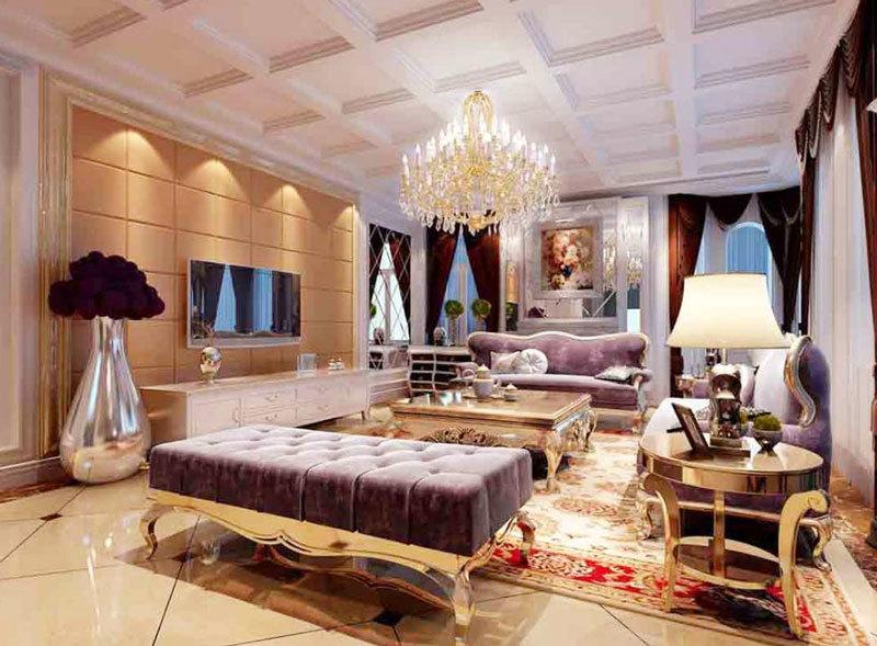 法式风格奢华精致别墅室内客厅装修效果图