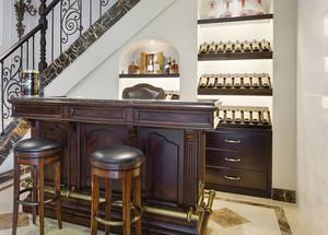 美式风格别墅室内酒柜吧台装修效果图赏析