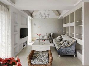 欧式风格简约优雅客厅电视背景墙装修效果图赏析