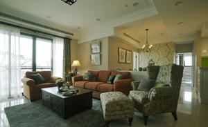 田园风格大户型室内精致客厅沙发装修效果图