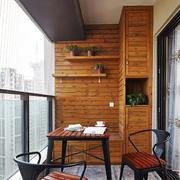 新中式风格精致阳台设计装修效果图