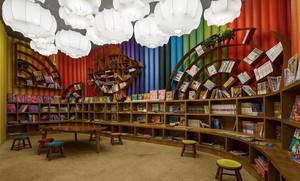 100平米乡村风格书店设计装修效果图