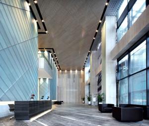 现代风格精致办公室前台设计装修效果图赏析