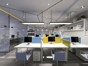 120平米现代简约风格办公室装修效果图赏析