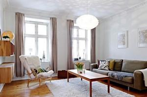 65平米北欧风格简约一居室装修效果图案例