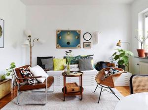 65平米北欧风格简约一居室小户型装修效果图案例