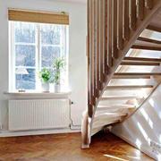 北欧风格创意实木楼梯装修效果图赏析