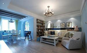 103平米地中海风格简约两室两厅室内装修效果图赏析