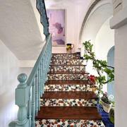 地中海风格复式楼梯装修效果图欣赏