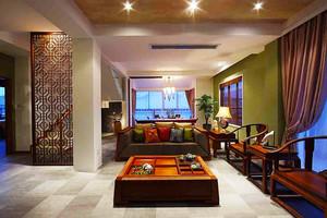 144平米东南亚风格精装复式楼装修效果图案例