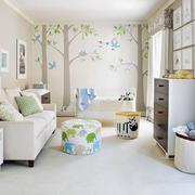 简欧风格清新自然婴儿房设计装修效果图赏析